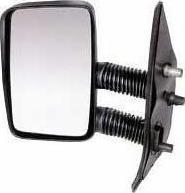 Peugeot Boxer Van [94-98] Complete Manual Adjust Mirror Unit - Black Long Arm